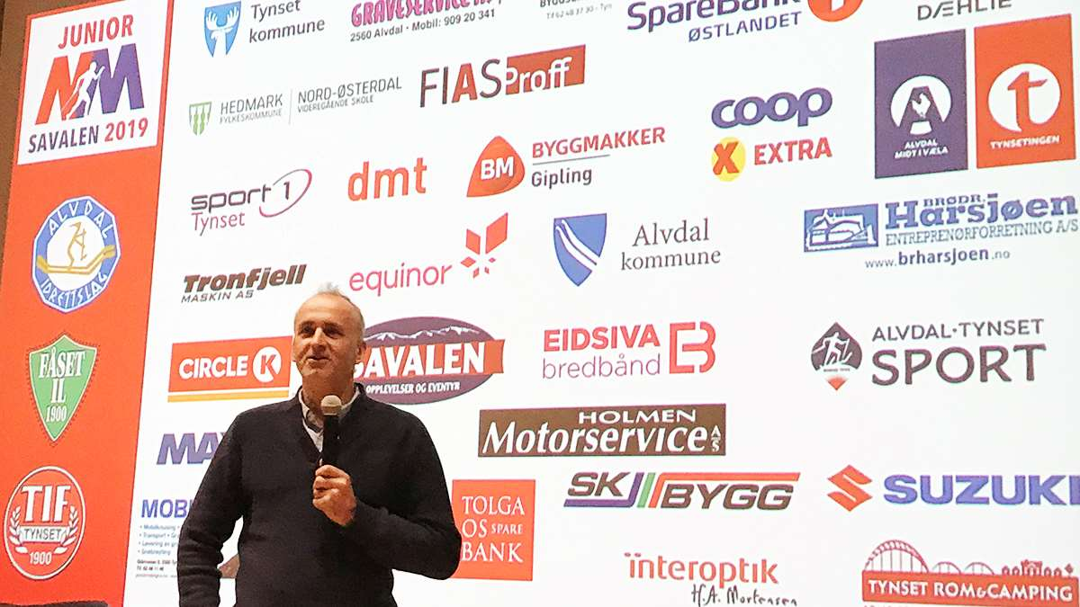 John Northus på vår kick-off. Foto: Jan Kristoffersen/media junior NM